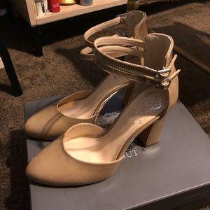 Nude Vince Camuto ankle strap Dorinda heels